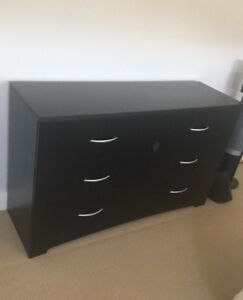 Black 6 drawer dresser - $100