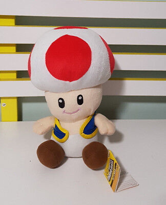 TOAD RARE PLUSH TOY FROM NINTENDO!23CM! WITH TAGS SUPER MARIO BROS!