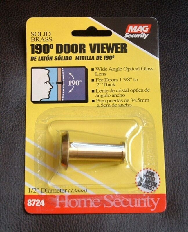 2 PACK - Solid Brass 190 Degree Wide Angle Door Viewers - Peephole - USA NEW!