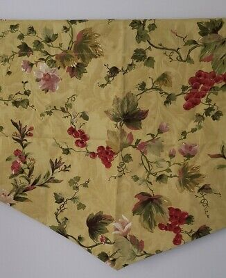 Waverly Antique Gold SET OF 2 Chianti LINED Ascot VALANCE Tuscan 52 X 22 NEW  Gold Ascot Valance