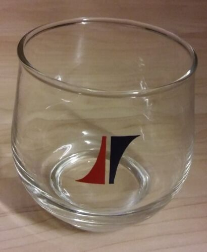 National Airlines Cocktail Glass - Vintage NAL Logo Airplane Air Lines Airways