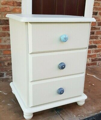 Painted (F & B) Chest of Drawers with Ceramic Handles Ht 23.5