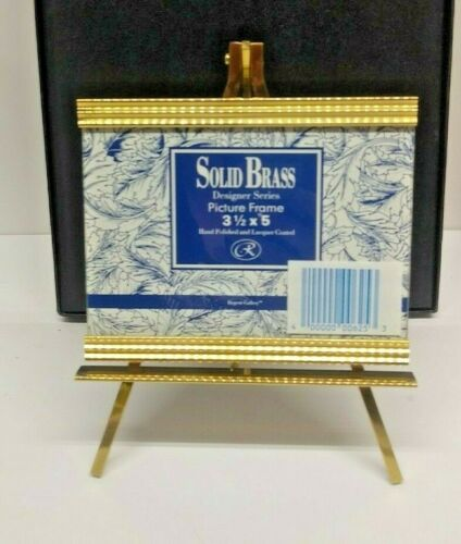 """REGENT GALLERY SOLID BRASS DESIGNER SERIES PICTURE FRAME WITH EASEL 3.5"""" X 5"""""""