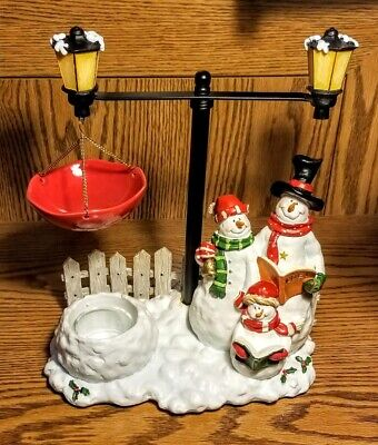 Yankee Candle Christmas Caroling Snowman Family Hanging Tart Warmer RETIRED