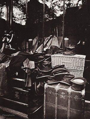 1900/63 Vintage 11x14 Trunk Luggage Hat Fashion Paris France Photo EUGENE ATGET