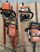 We buy, sell, service and repair chainsaws.