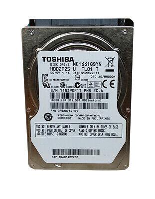 """Toshiba   MK1661GSYN 160GB 2.5"""" SATA II Laptop Hard Drive comprar usado  Enviando para Brazil"""
