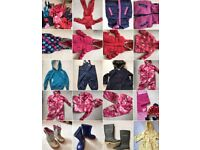 Various waterproof, puddle suit, coats kids toddlers