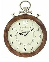 Urban Designs Imported Penn Station NYC 15 Wooden Pocket Watch Style Wall Clock