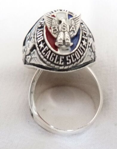 EAGLE SCOUT RING  925 SILVER