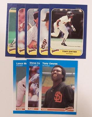 1986 & 1987 Fleer Miniatures SAN DIEGO PADRES TEAM SET