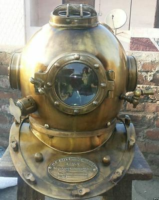 Antique Scuba SCA Divers Diving+Helmet US Navy Mark V Deep Sea Marine Divers-!