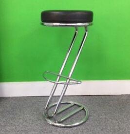 Bistro stool Z frame black seat cheap