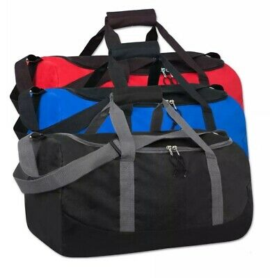 Lot Of 24 Duffle Bag Bags Travel Size Sports Gym Blank 20