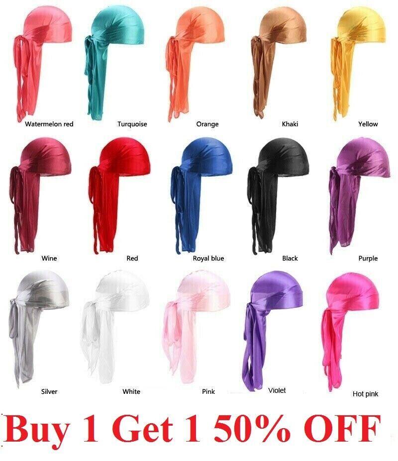 Premium Silky Satin Durag Men's Cap Hat Doo Rag Biker Smooth Head Wrap US SELLER Clothing, Shoes & Accessories
