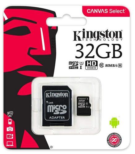 Kingston 32GB micro SD Karte SDHC Class 10 UHS-I 80MB/s Speicherkarte DE/OVP