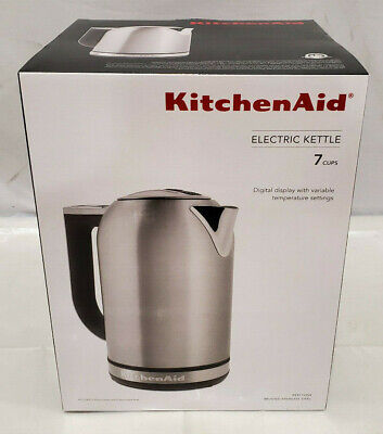 KitchenAid Brushed Stainless Steel 7-Cup Electric Tea Kettle
