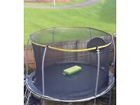 12ft sportspower trampoline with enclosure and ladders £70