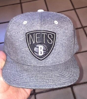 NBA Brooklyn Nets Mitchell & Ness Dark Heather Charcoal Snapback Baseball Hat