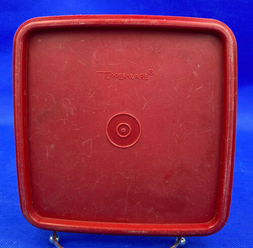 Vintage Tupperware Square Away Sandwich Keeper Red Replacement Lid #1363