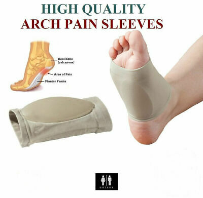 2 PCS Arch Support Gel Orthotic Insole Plantar Fasciitis Foot...