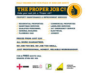 ⭐️⭐️⭐️⭐️⭐️ The Proper Job Co: Insured ✓ Handyman ✓ Builder ✓ Electrician ✓ Plumber ✓ Joiner ✓ Gas ✓