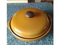 Large ceramic casserole dish