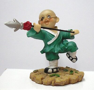High Quality Shaolin Kung Fu Kid Spear Action Figure Green