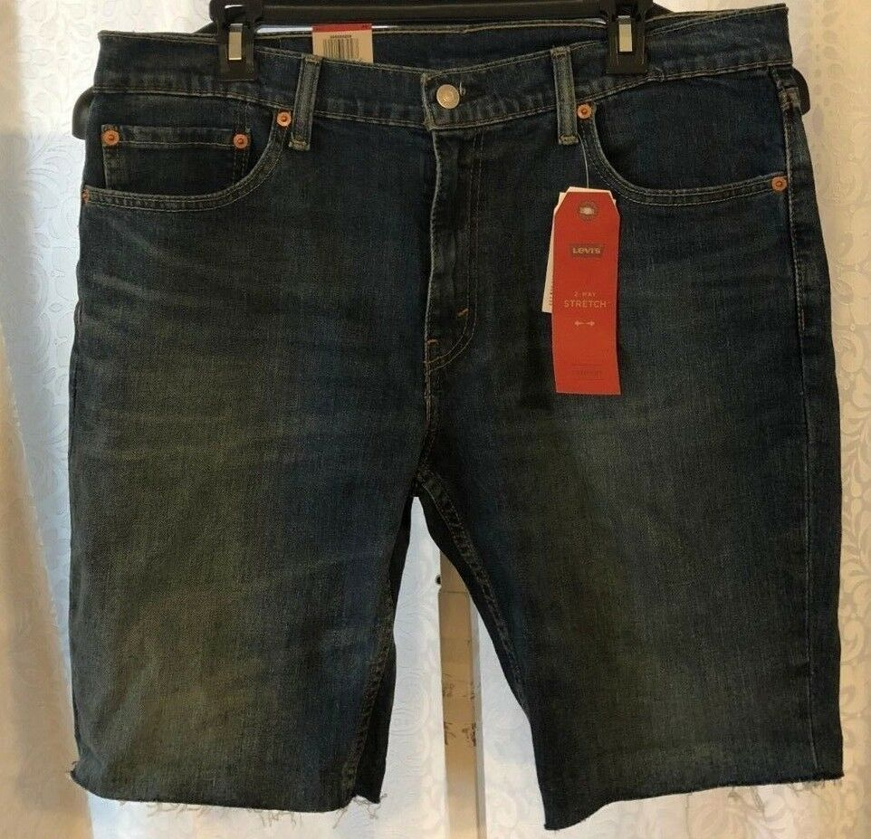 Mens Levi's 511 Slim Denim Jean Shorts Cutoff Size 40 New NW