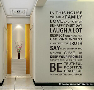 Family-House-Rules-stickers-wall-Decal-Removable-Art-Vinyl-Decor-Home-Kids-Au