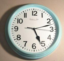 Mainstays - Sterling & Noble - Aqua Ocean - 8.78 inch diameter Wall Clock - Used