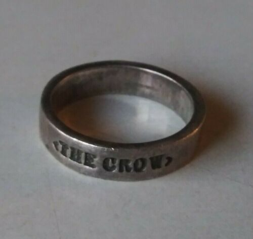 """THE CROW """"REAL LOVE IS FOREVER"""" ORIGINAL VINTAGE MERCH RING SZ 9 SILVER RING"""