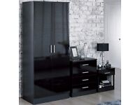 Brand New Wardrobe Chest of Drawers Bedside Cabinet Combi Unit Set
