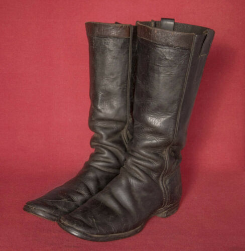 Antique 19th Century Black Leather Boots