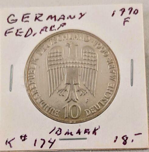 1990 Germany Federal Republic 10 Mark