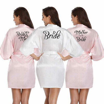 Bride Satin Heart kimono Robe Wedding Maid Of Honor Bridesmaid Gown Nightwear](Maid Of Honor Robe)