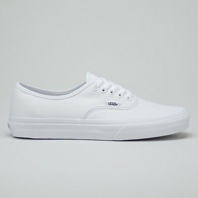 Vans Authentic Trainers True White Brand New in box UK Sizes 4,5,6,7,8,9,10,11