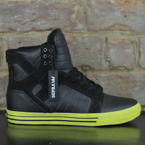 Supra-Skytop-Skate-Shoes-Trainers-new-in-box-Black-Sizes-UK4-5-6-8-9-10-12-13
