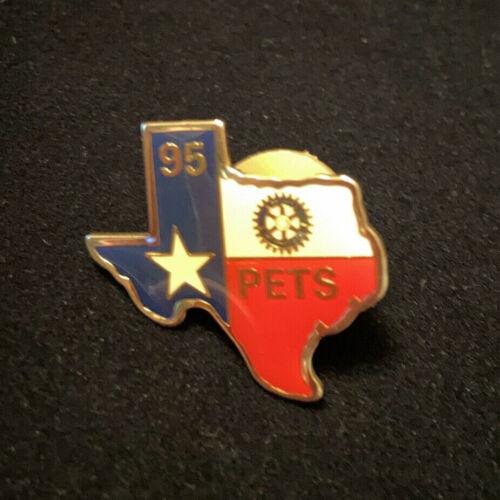 Rotary International Pin PETS 95 TEXAS - President Elect Training Seminar