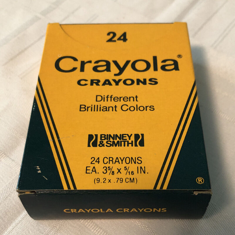 Vintage Crayola Crayons Binney & Smith No. 24 Pack- NOS 4 Retired Colors