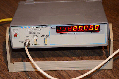 Tested Tektronix Cfc250 100mhz Frequency Counter 5hz-100mhz