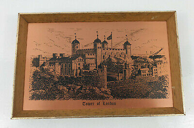 Vintage Coppercraft Copper Etching Of Tower of London