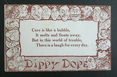 Dippy Dope Care is Like a Bubble Comic Posted DB Postcard