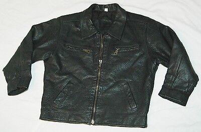 Lederjacke für Kids Gr. 6  Brustweite 44 cm Bikerjacke Jacke Leder Kinder    ()