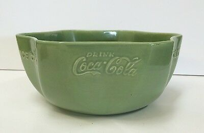 Vernon Kilns Coca Cola pottery bowl 1950s vtg advertising RARE Collector