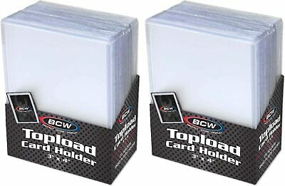 Lot of 200 BCW Semi Rigid Tall Widevision //Gameday Trading Card Holders savers