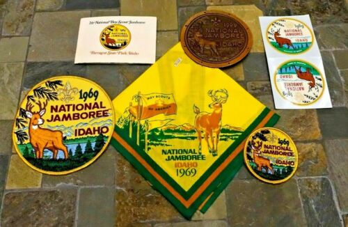 1969 Vintage Boy Scout Collection National Jamboree Idaho Patches, Decals & More