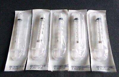 Lot Of 5 Bd 3ml3cc Clear Luer Lock Tuberculin Syringe Sterile 309657