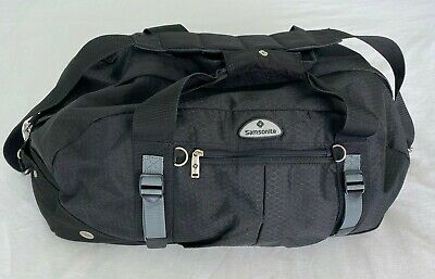 Samsonite Convertible Sport Duffel Bag / Backpack Duffel Black Cary-on