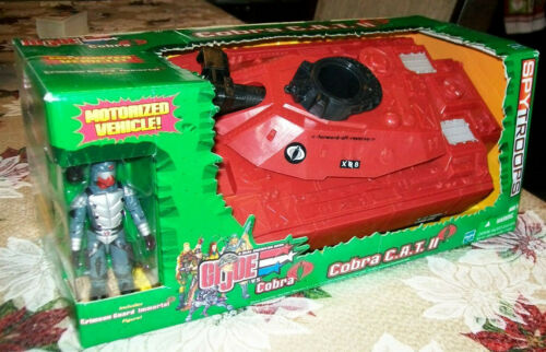 GI JOE COBRA C.A.T. II CAT Tank motorized w/ CRIMSON GUARD IMMORTAL HASBRO 2003